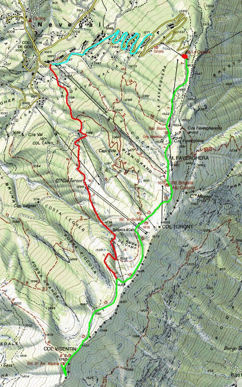 Cartina Tabacco 024.Mountainbike Dolomitico Pagina Web Personale